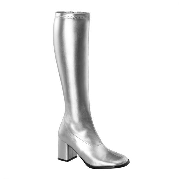 Retro Boots GOGO-300 - PU silver
