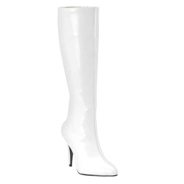 Knee Boot LUST-2000 - Patent white