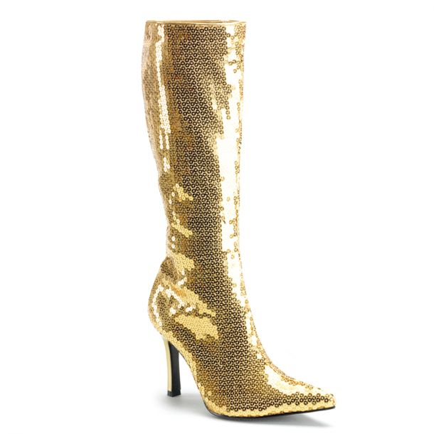 Knee Boot LUST-2001 - Sequins gold