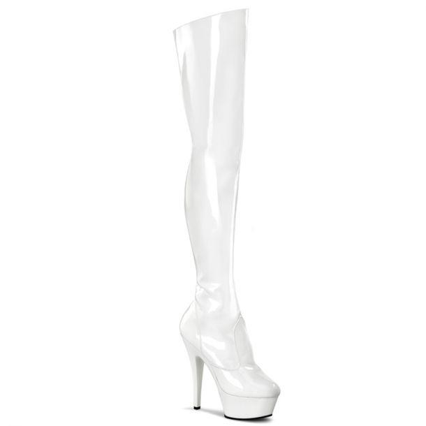 Platform Overknee Boot KISS-3010 - White
