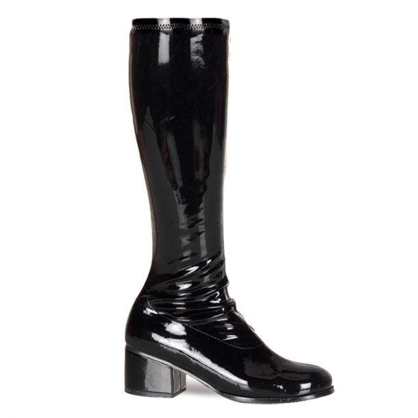 Retro Knee Boot RETRO-300 - Patent black