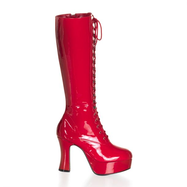 Knee Boot EXOTICA-2020 - Patent Red