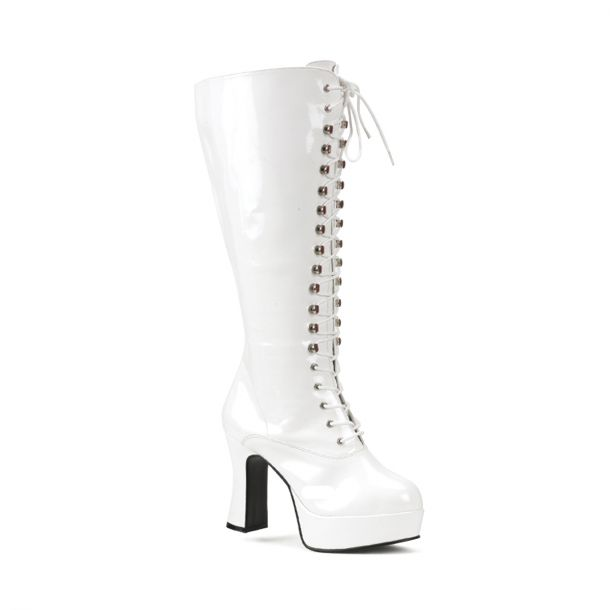 Knee Boot EXOTICA-2020X (Wide Shaft) - Patent White