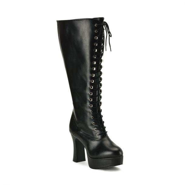 Knee Boot EXOTICA-2020X (Wide Shaft) - PU Black
