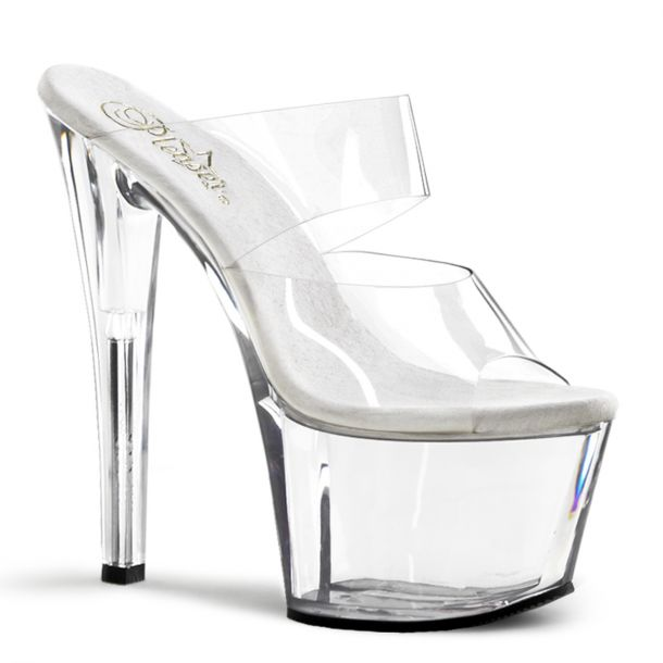 Platform mules SKY-302 - Clear/Clear