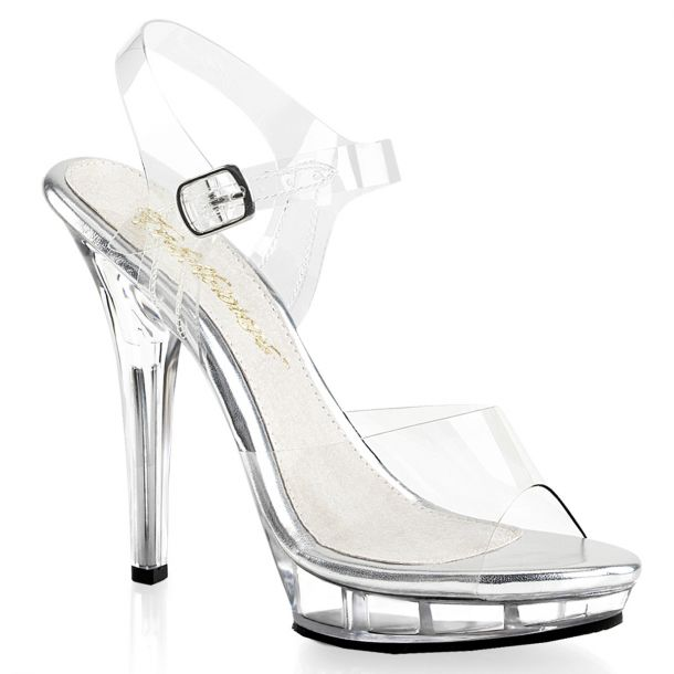 High-Heeled Sandal LIP-108 - Clear/Clear