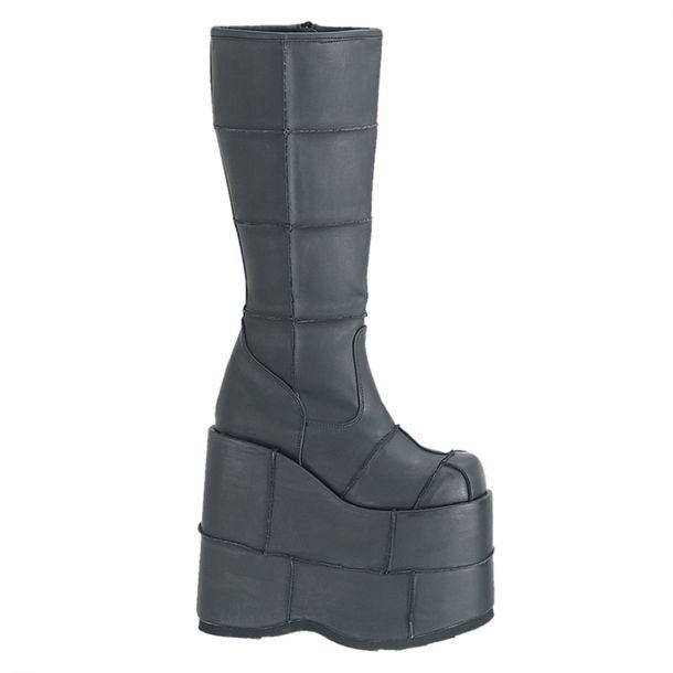 Platform Boots STACK-301 - PU Black