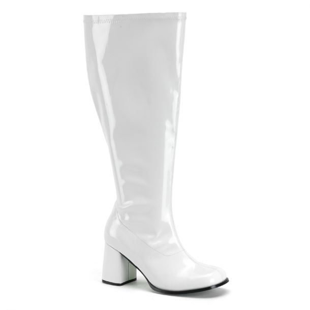 Retro Boots GOGO-300X (Wide Shaft) - Patent White