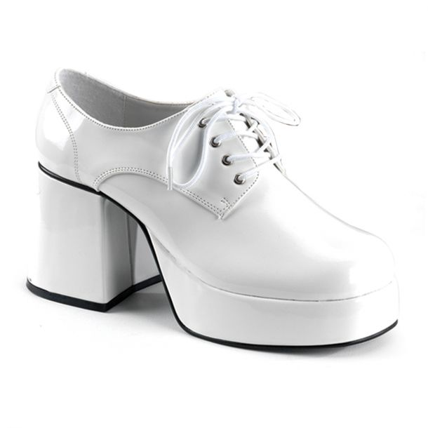 Men Platform Shoes JAZZ-02 - Patent White