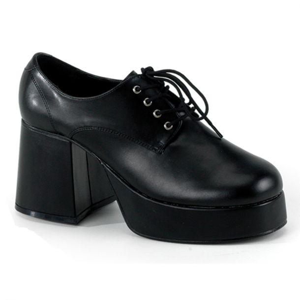 Men Platform Shoes JAZZ-02 - PU Black
