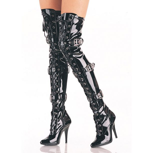 Overknee Boot SEDUCE-3028 - Patent Black