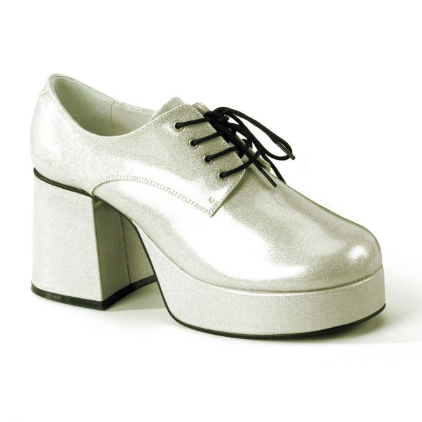 Men Platform Shoes JAZZ-02G - Glitter Silver