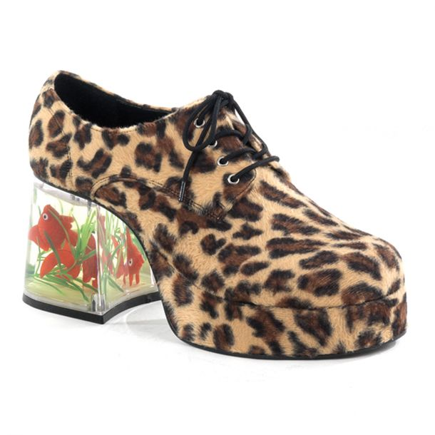 Men Platform Shoes PIMP-02 - Leopard