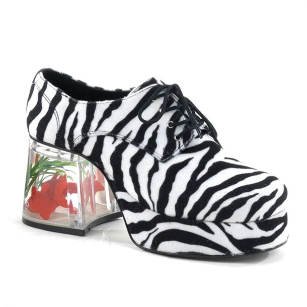 Men Platform Shoes PIMP-02 - Zebra