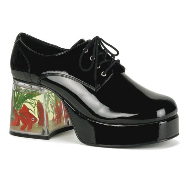Men Platform Shoes PIMP-02 - Black