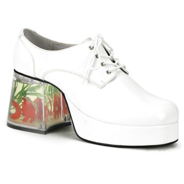 Men Platform Shoes PIMP-02 - White