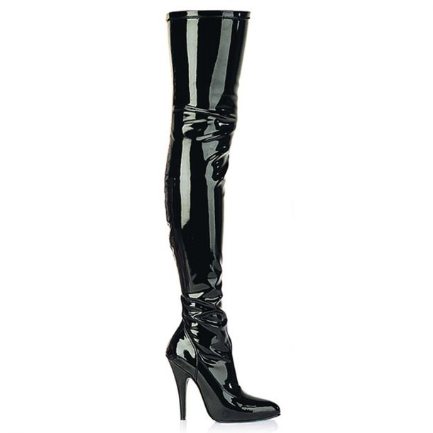 Overknee Boot SEDUCE-3000 : Patent Black*