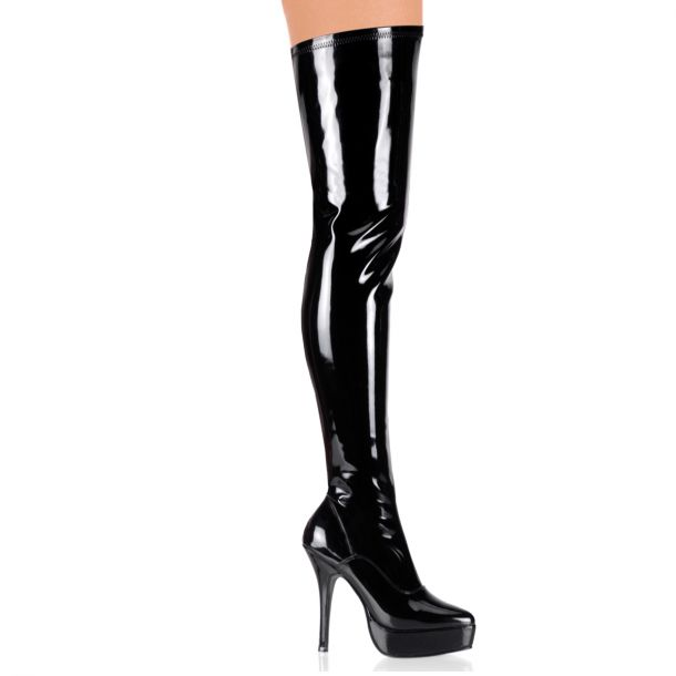 Overknee Boot INDULGE-3000 : Patent Black*