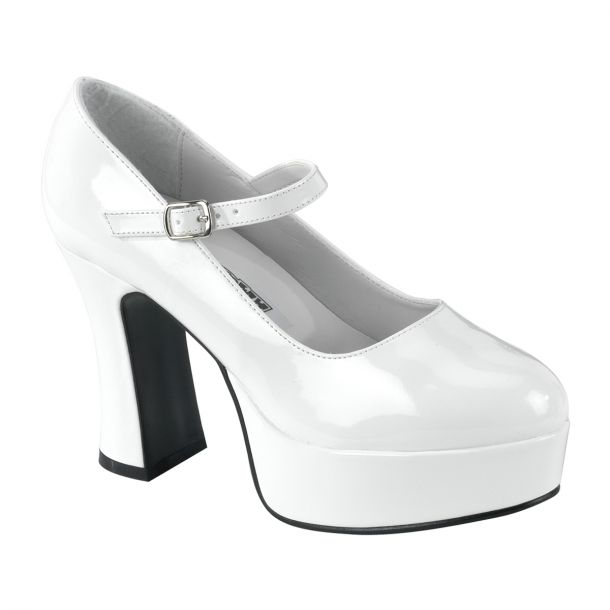 Retro Platform Pumps MARYJANE-50 : White*