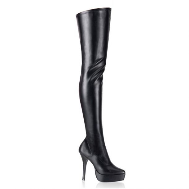 Overknee Boot INDULGE-3000 : PU Black*