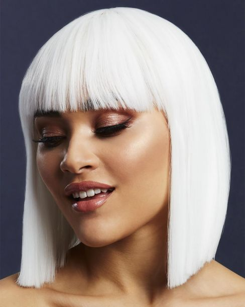 Medium-Length Bob Wig LOLA - White*