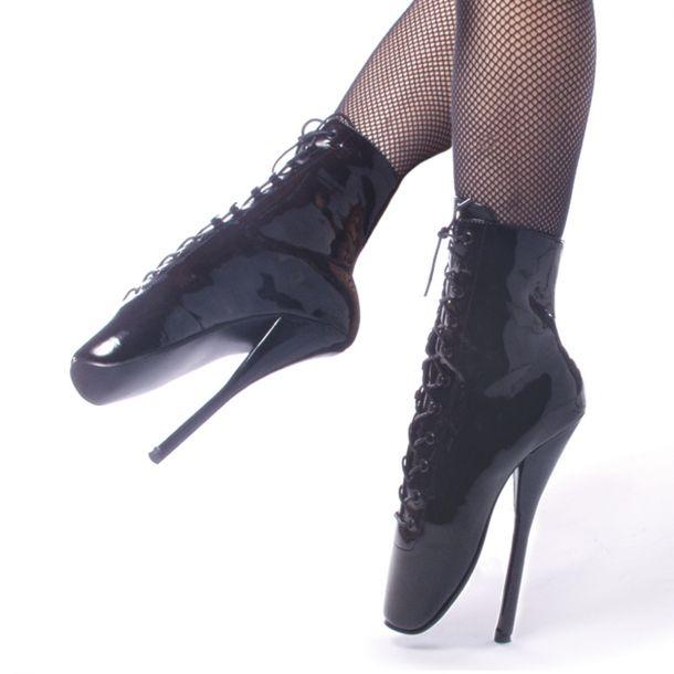 Fetish Heels BALLET-1020 : Patent Black*