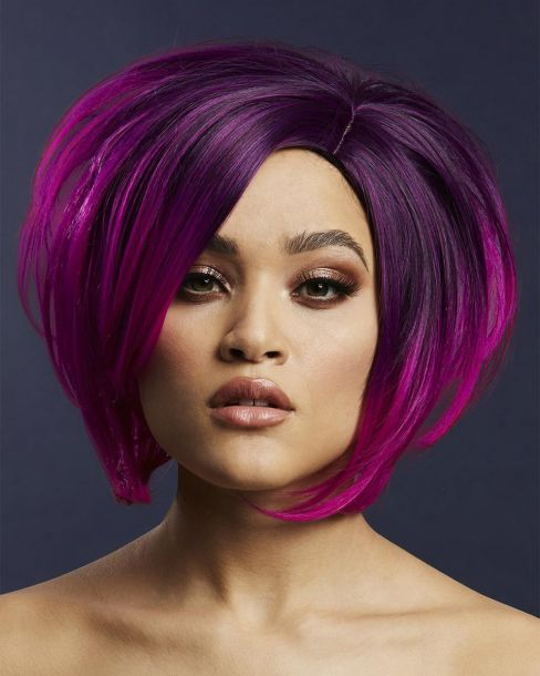 Asymmetric Bob Wig SAVANNA - Purple