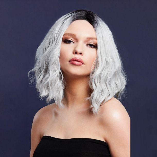 Longbob Wig CARA - Ice Silver