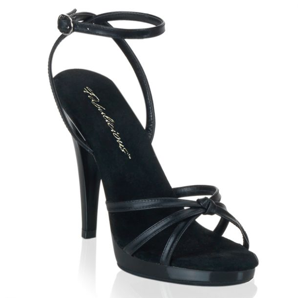 High-Heeled Sandal FLAIR-436 - Leather Black*