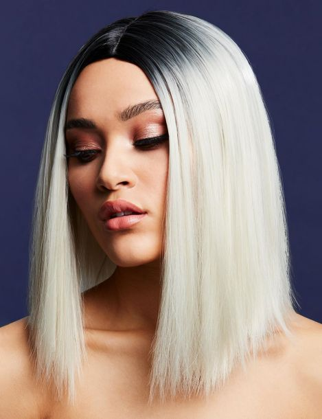Longbob Wig KYLIE - Ice Blonde