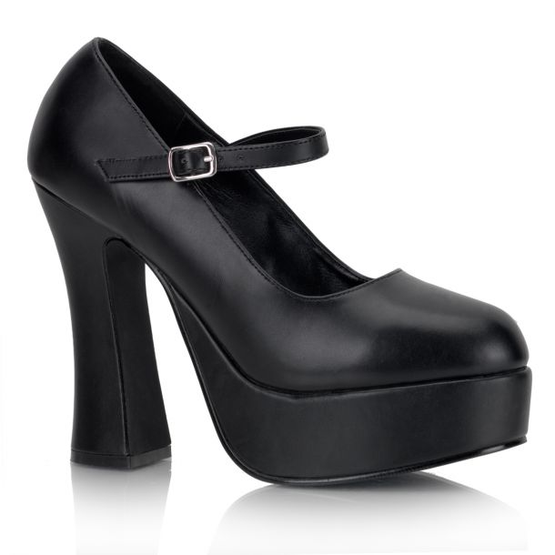 Platform Pumps DOLLY-50 - PU Black*