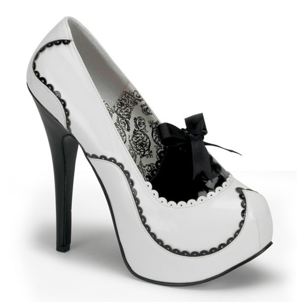 Platform Pumps TEEZE-01 - White/Black