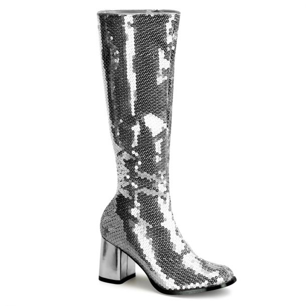 Knee Boot SPECTACUL-300SQ - Silver