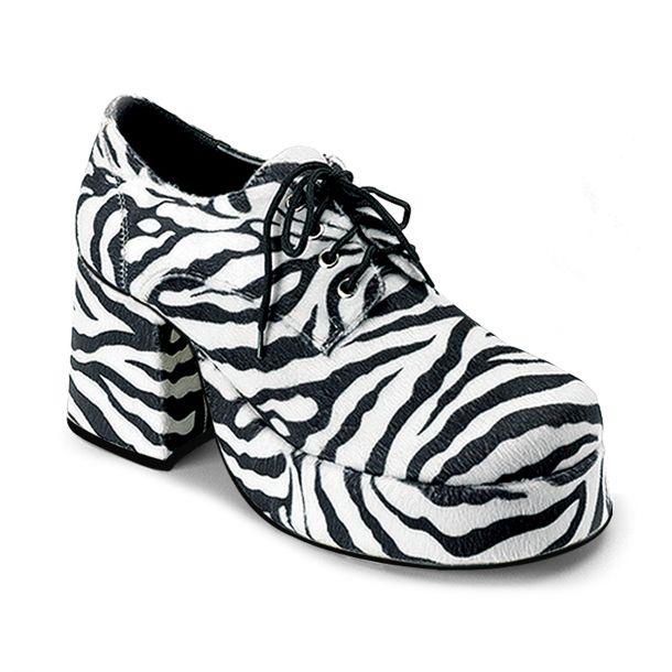 Herren Plateauschuhe JAZZ-02 - Zebra*