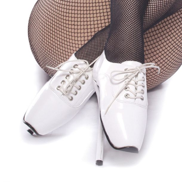 Fetish Heels BALLET-18 - Patent White