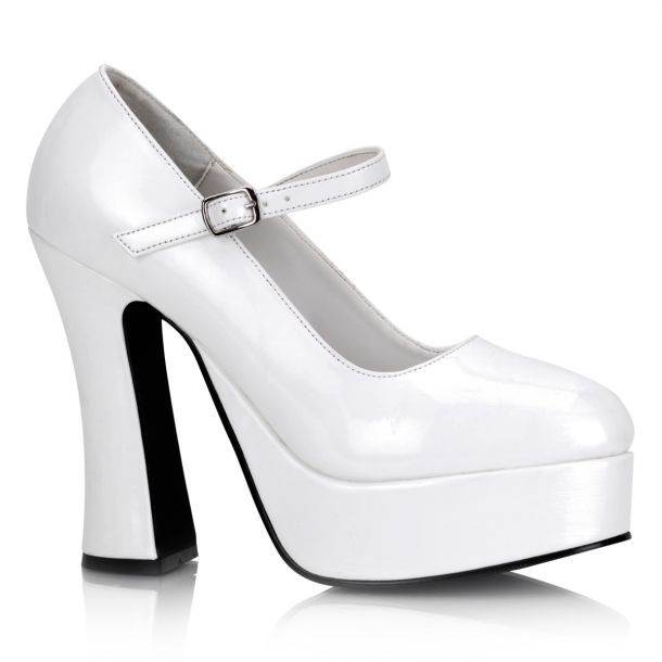 Platform Pumps DOLLY-50 - Patent White
