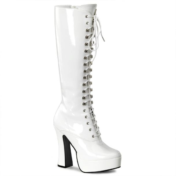 Knee Boot ELECTRA-2020 - Patent White
