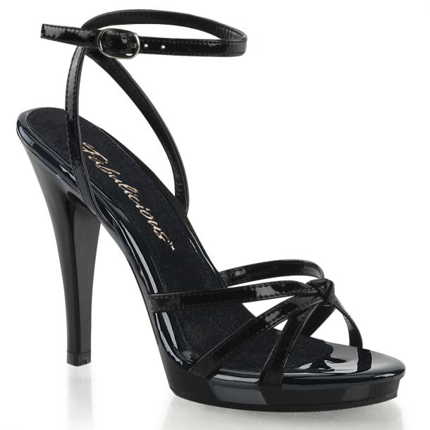 High-Heeled Sandal FLAIR-436 - Patent Black