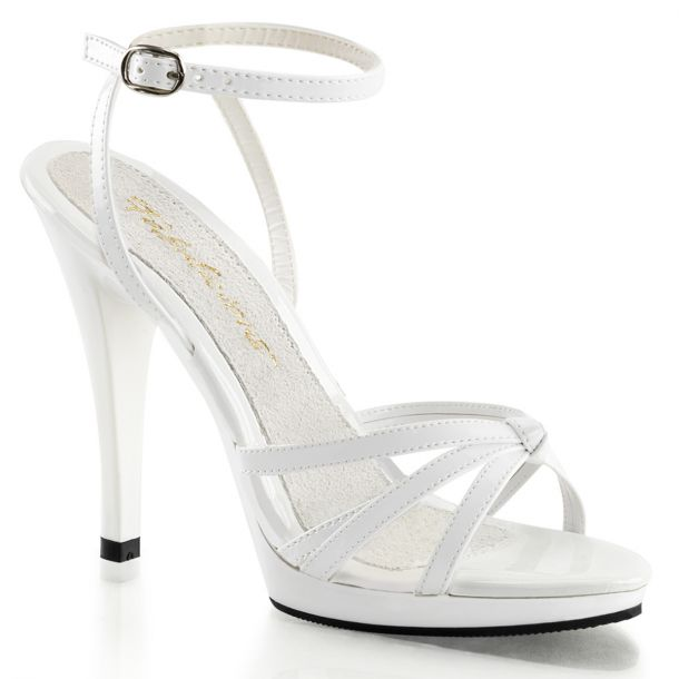 High-Heeled Sandal FLAIR-436 - Patent White