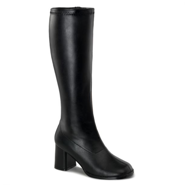 Retro Boots GOGO-300WC (Wide Shaft) - PU Black