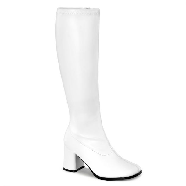 Retro Boots GOGO-300WC - PU White