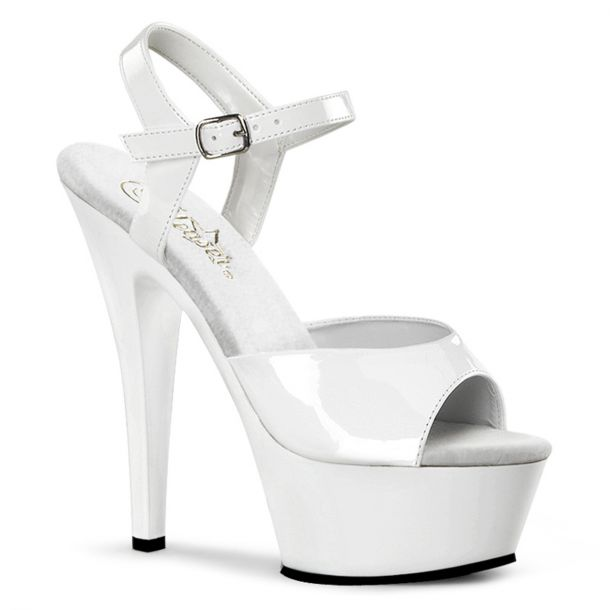 Platform High Heels KISS-209 - Patent White