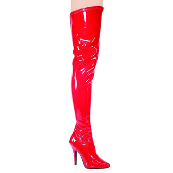 Overknee Boot SEDUCE-3000 - Patent Red