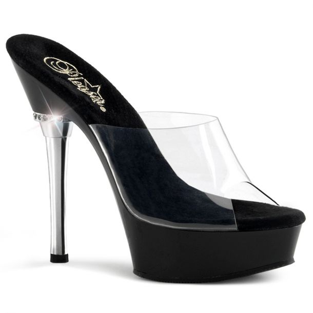 Platform Slide ALLURE-601 - Black/Clear