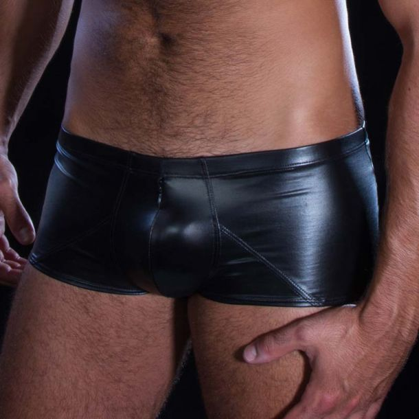 Wetlook boxer shorts STAN - Black