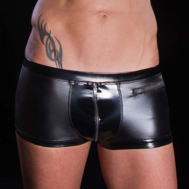 Wetlook boxer shorts TINO - Black
