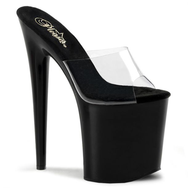 Platform High Heels FLAMINGO-801 -  Clear/Black