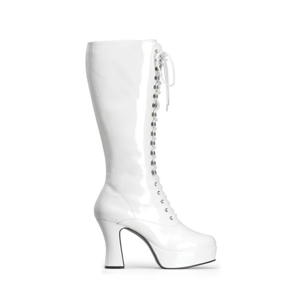Knee Boot EXOTICA-2020 : Patent White*