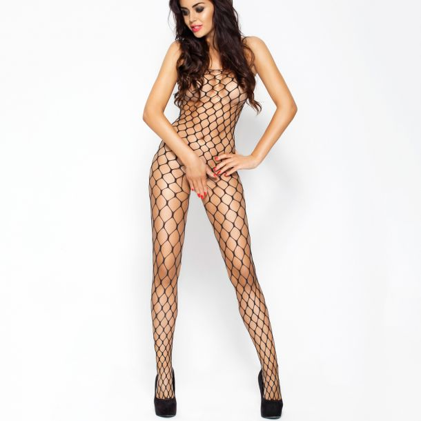 Coarse Net Bodystocking Crotchless BS001 - Black*