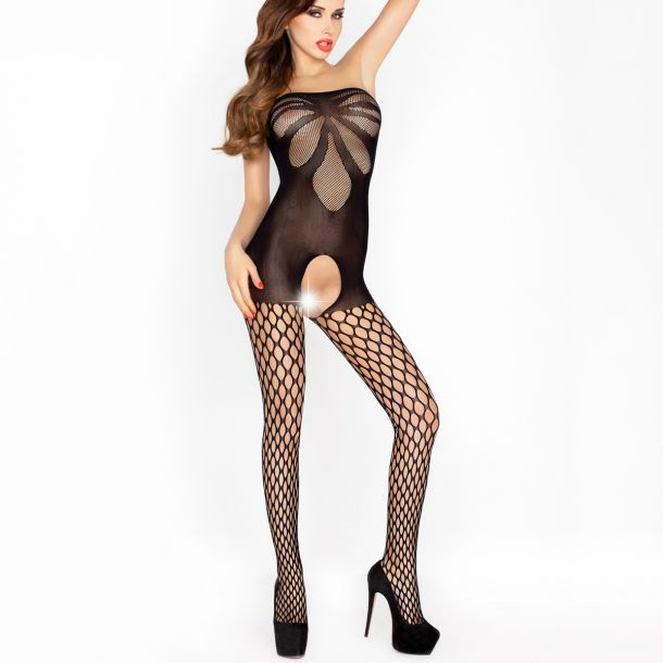 Hotpant Bodystocking Crotchless BS021 - Black*